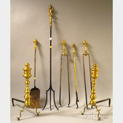 Group of Metal Fireplace and Hearth Equipment