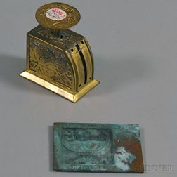 Tiffany Studios Postage Scale and Small Metal Plaque
