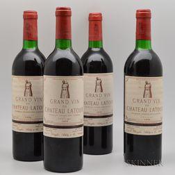 Chateau Latour 1978, 4 bottles