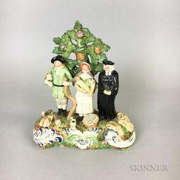Staffordshire Ceramic Figural Scene