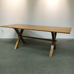 Large Wallace Nutting Maple Sawbuck Table