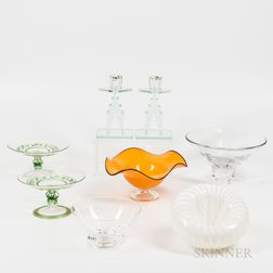 Eight Pieces of Contemporary Art Glass