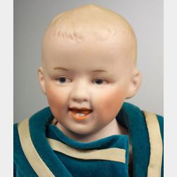 Heubach Laughing Character Bisque Shoulder Head Boy Doll