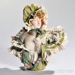 Teplitz Female Figural Bust