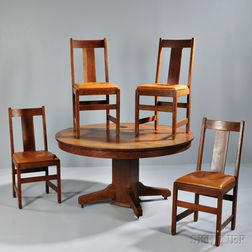 Lifetime Oak Table and Four Chairs