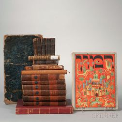 Group of Hebrew and English Books and Periodicals