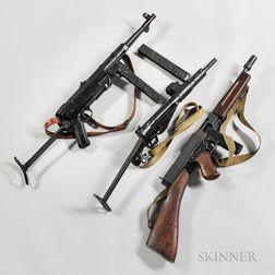 Three Inert Sub-machine Guns