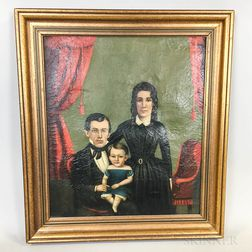 American School, 19th Century       Portrait of a Family