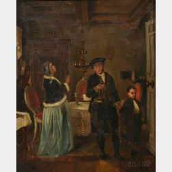 After Moritz Daniel Oppenheim (German, 1800-1882)      Lot of Two Works: Seder (The Passover Meal)