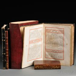 Turkish, Egyptian and Armenian Imprints, Early 19th Century, Five Volumes: