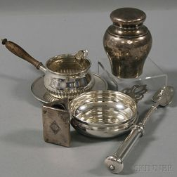 Six Assorted Mostly Sterling Silver Items