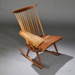 George Nakashima (1905-1990) Single-arm Rocking Chair