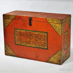 Covered Wood Storage Box
