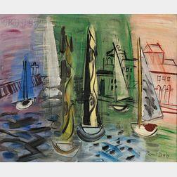Raoul Dufy (French, 1877-1953)      Régates à Trouville