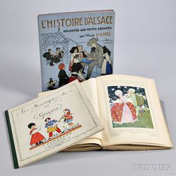 French Illustrated Books, Three from the Early 20th Century.
