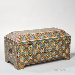 Continental Small Painted Trunk