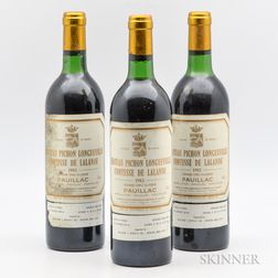 Chateau Pichon Lalande 1982, 3 bottles