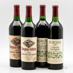 Burgess Cabernet Sauvignon Vintage Selection, 4 bottles