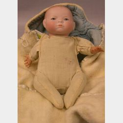 Small Bisque Head Bye-Lo Baby Doll