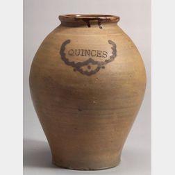 """""""QUINCES"""" Cobalt Blue Stoneware Jar"""
