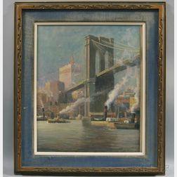 American School, 19th/20th Century      Brooklyn Bridge