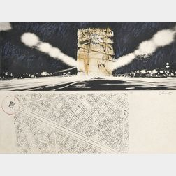 Christo and Jeanne-Claude (American, b. 1935)      Project for the Arc de Triomphe, Paris