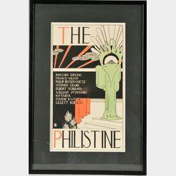 Dwight Ripley Collin (American, 19th/20th Century)      Design for Elbert Hubbard's Roycroft Press Periodical, The Philistine