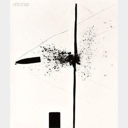 Harold Eugene Edgerton (American, 1903-1990)      Bullet Through Plexiglas