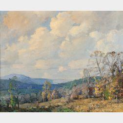 William Jurian Kaula (American, 1871-1953)      Sunshine and Cloud Shadows