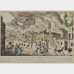 Habermann, Franz Xavier (1721-1796) Representation du Feu Terrible a Nouvelle Yorck.
