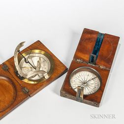 Cased 19th Century Compass and Sundial
