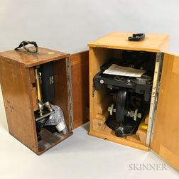 Two Cased Microscopes