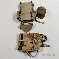 Imperial Japanese Body Armor, Cap, and Knapsack