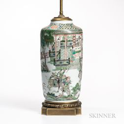 Famille Verte Lamp Vase