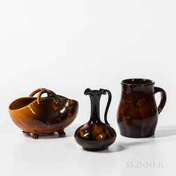 Three Rookwood Pottery Standard Glaze Items