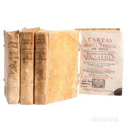 Saint Teresa de Jesus (1515-1582) [and] Juan de Palafox y Mendoza (1600-1659) Cartas de Santa Teresa de Jesus, Madre, y Fondadora de la