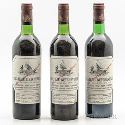 Chateau Beychevelle 1975, 3 bottles