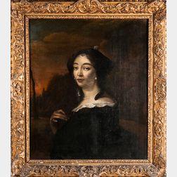 Attributed to Pieter Hermansz. Verelst (Dutch, c. 1618-c. 1668)      Portrait of Anna de Hooghe (1645-1717)