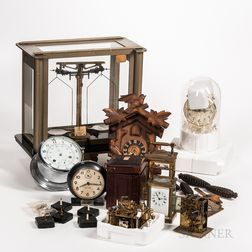Collection of Clocks and an Analytical Balance Scale