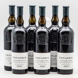 Taylor Fladgate Vintage Port 2003, 6 bottles