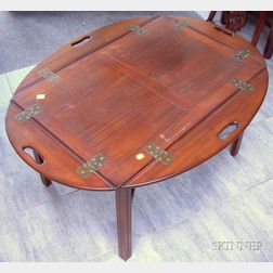 Chippendale-style Mahogany Butlers Tray Table.