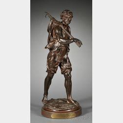 Bronze Figure of the Crevetteur