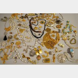 Group of Assorted Mostly Signed Costume Jewelry