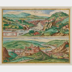 Lyons and Vienne, France, Views. Georg Hoefnagel (1542-1601) After the Master of the Fabriczy Drawings.