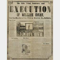 Execution Broadsides, Three Examples, London, Mid-19th Century.