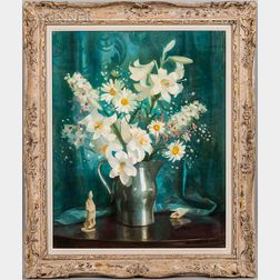 Marguerite Stuber Pearson (American, 1898-1978)    White Flowers