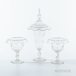 Three Irish Glass Vases