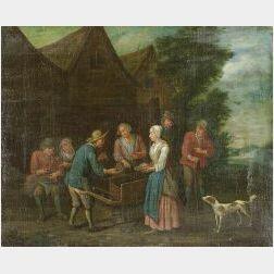 Northern School, 18th Century Style  The Shellfish Vendor