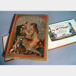 Two French Children's Books Featuring Dolls