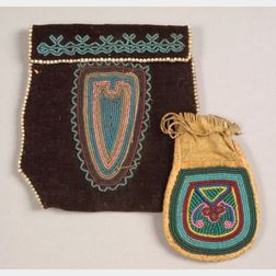 Two Northeast Beaded Pouches